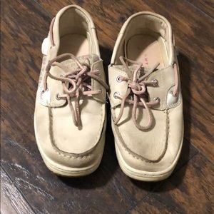 Sperry Topsiders pink and tan cheetah print